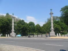 ACANTHUS COLUMNS, BARTEL-PRITCHARD SQUARE. On Prospect Park's western edge, is the dividing point between Park Slope and Windsor Terrace.