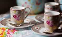Treat yourself to the prettiest teacup for tea today. You deserve it. Cedar Hill Farmhouse, Pip Studio, Dinner Is Served, Silver Spoons, Party Entertainment, High Tea, Teacups, Tablescapes, Tea Time