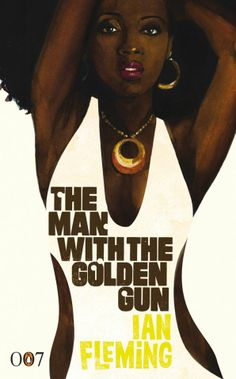 007 #09 1974 The Man with the Golden Gun (1st Bond without a year's interruption since 1965 ThunderBall) • Bond: Roger Moore (2nd) • BondGirl: Maud Adams as Andrea (Swede) & Britt Ekland (Swede) as Goodnight •Evil: Christopher Lee as Scaramanga• theme song by same title sung by Lulu • depicted: poster art: Michael Gillette 007 series