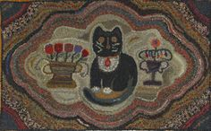 Hooked Rug ... Cat ... Adaptation By Barb Carroll