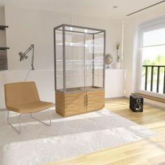 Γυάλινη Βιτρίνα Καταστήματος με συρόμενες πόρτες και ντουλάπι μελαμίνης Divider, Room, Furniture, Home Decor, Cabinets, Bedroom, Decoration Home, Room Decor, Rooms