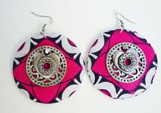 African Print Earrings by Mahoganey on Etsy, $12.00