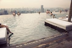 rooftop pool overlooking NYC??! I need to find out where this is...