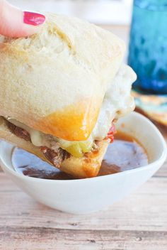 Crockpot Spicy Italian Drip Beef Sandwiches are always a favorite and they are so easy!