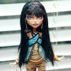 Monster High Cleo De Nile repaint all done and looking cute! #monsterhigh…