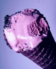 Colorful Black Raspberry Ice Cream Cone by Pink Sherbet Photography, via Flickr.