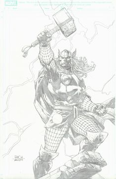 David Finch - Thor Comic Art