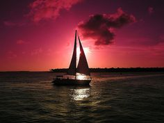 Set sail at sunset... beautiful