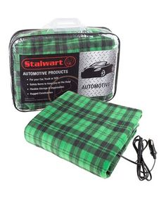 Loving this Green Plaid 12-Volt Electric Blanket on #zulily! #zulilyfinds