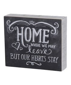 Love this Primitives by Kathy 'Hearts Stay' Wall Sign by Primitives by Kathy on #zulily! #zulilyfinds