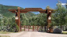 Archived Land near 845 Chaparral Drive, Woody Creek, Colorado, Farm Entrance, Driveway Entrance, House Entrance, Front Gates, Entrance Gates, Ranch Fencing, Farm Gate, Gate Design, Ranch Style