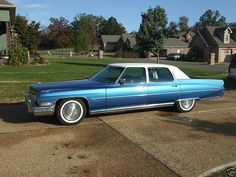 1973 Cadillac Fleetwood Brougham.  I learned to drive in one of these!