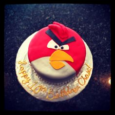 Angry birds birthday cake- Caedon