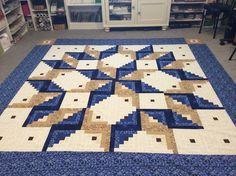 Log Cabin Carpenter Square Pattern