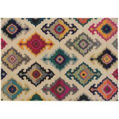 Indoor Texture Rug|Kaleidoscope Afghan|Various Sizes|Thos. Baker