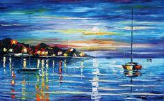 Love with the sea by Leonid Afremov by Leonidafremov.deviantart.com on @DeviantArt