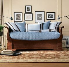 marston daybed with popup trundle dark cherry daybeds restoration hardware
