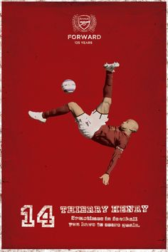Poster for return of Thierry Henry to Arsenal in Arsenal Fc, Arsenal Football, Football Kits, Retro Football, Football Design, World Football, Soccer Art, Soccer Poster, Thierry Henry Arsenal