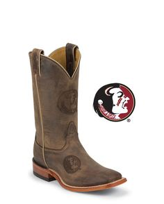 Men's Florida State University Brown Cowhide Branded Boot: http://www.countryoutfitter.com/products/36052-mens-florida-state-university-brown-cowhide-branded-boot