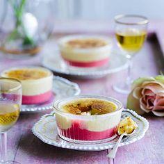 Rhubarb and custard crème brûlée - brûlée recipe