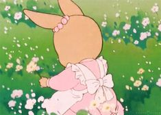 Plasticismylife: Patty Rabbit from Maple Town, GIF by Nurse Peach. Aesthetic Gif, Pink Aesthetic, Aesthetic Pictures, Cute Gifs, Vintage Cartoons, Poses References, Cute Cartoon, Cute Art, Anime Art