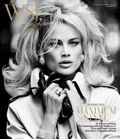 Big, beautiful and voluminous. Carolyn Murphy in WSJ. Magazine. Hair by Oribe