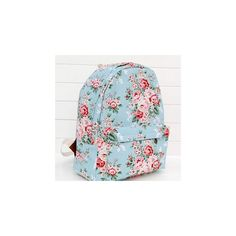 31d5f25433 Floral Canvas Backpack ( 22) ❤ liked on Polyvore featuring bags
