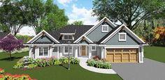Craftsman-Inspired 2 Bed Ranch Home Plan - 890017AH | 1st Floor Master Suite, Butler Walk-in Pantry, CAD Available, Craftsman, Northwest, PDF | Architectural Designs