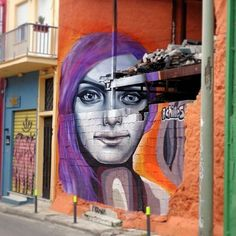 Bold anamorphic piece by Achilles streetart based in Athens
