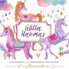 I had so much fun designing this whimsical unicorns clip art set. Hope you'll enjoy it too ! smile emoticon Grab it here: https://www.etsy.com/au/listing/290889931 #kids clip art #glitter unicorns #unicorn graphics