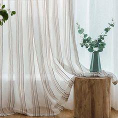 Moderne Gardine Mit Streifen Design Im Wohnzimmer Koreanischen Stil Zu  Günstigen Preisen Kaufen Moderne Vorhänge,