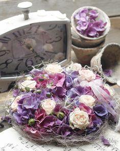 Hortensienkranz Shabby Home, Floral Wreath, Wreaths, Home Decor, Third Child, Floral Crown, Decoration Home, Door Wreaths, Room Decor