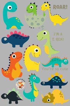 Die Dinos Baby, Baby Dinosaurs, Dinosaur Birthday Cakes, Baby Birthday, Dinosaur Party Decorations, Birthday Party Decorations, Dinosaur Crafts, Baby Party, Ideas