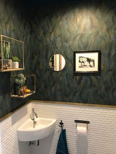 Downstairs Toilet, Home Of The Brave, Small Rooms, House Rooms, Bathroom Inspiration, Sweet Home, House Design, Mirror, Interior