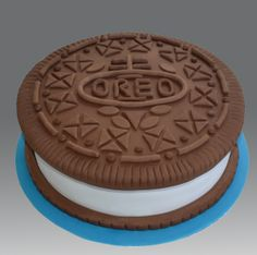 Oreo cake, shaped like an Oreo. Cuuuuuute.
