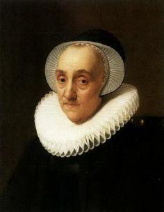 Nicolaes Eliasz. Pickenoy - Portret van een oude dame