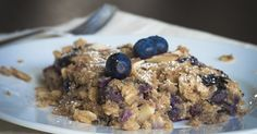 Breakfast dish that looks like dessert.  This Blueberry Oat Bake Will Have You Coming Back For Seconds…