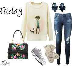 How To Wear It's Friday! Outfit Idea 2017 - Fashion Trends Ready To Wear For Plus Size, Curvy Women Over 20, 30, 40, 50