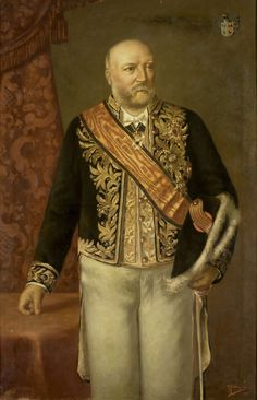 Portret van Cornelis Pijnacker Hordijk (1847-1908). Gouverneur-generaal (1888-93).  Onderdeel van een reeks van portretten van de gouverneurs-generaal van het voormalige Nederlands Oost-Indië. 1895