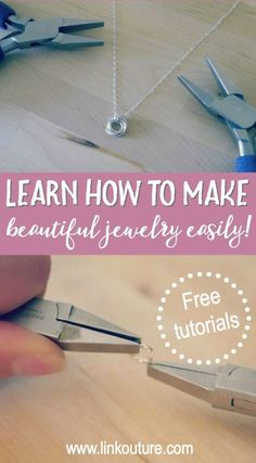 Jewelry Making Bracelets Do you want to learn how to make jewelry but don't know where to begin? Get started with these free jewelry making tutorials, perfect for creating special gifts or a gorgeous pieces for yourself! Do It Yourself Jewelry, Do It Yourself Fashion, Make Your Own Jewelry, Diy Jewelry Making, I Love Jewelry, Jewelry Making Supplies, Modern Jewelry, Beginner Jewelry Making, Trendy Jewelry