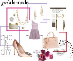 """I love the way you look - so pretty in pink"" by ourdesignpages on Polyvore"