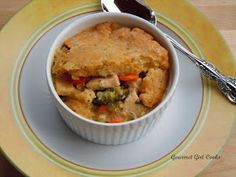 Gourmet Girl Cooks: Chicken Pot Pie w/ Cheddar Herb Crust -replace cheese with sheep cheese for cow-dairy free