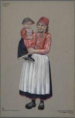 Marken, 1930. Meisje met zonneklep. Vrouw met...