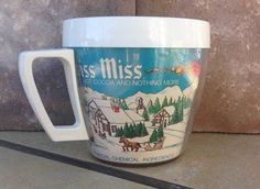 Vintage Swiss Miss Hot Cocoa Chocolate Handled Cup Westbend Thermo-Serv Mug USA