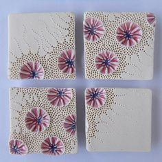 Best Photos karo Ceramics texture Tips …… Ceramic Tile Art, Clay Tiles, Ceramic Clay, Ceramic Artists, Ceramic Pottery, Clay Wall Art, Clay Art, Clay Texture, Paperclay
