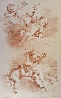 Cherub Tattoo, Angel Artwork, Angel Drawing, Angel Aesthetic, Classic Paintings, Renaissance Art, Old Master, Antique Prints, Art Sketchbook
