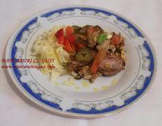 Ton rosu la tigaie cu legume si ou Beef, Meat, Steak