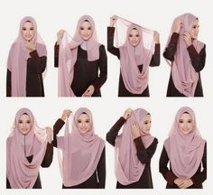 Hijab tutorial covering chest