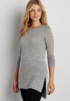 7ce5040184e107 the 24 7 tunic pullover with side slits