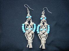 Small macrame earrings